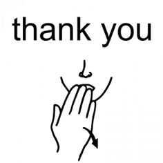 thank you in sign language